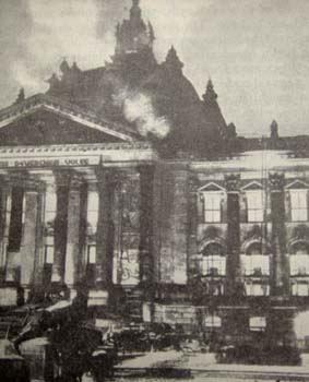 The Reichstag in Flames.
