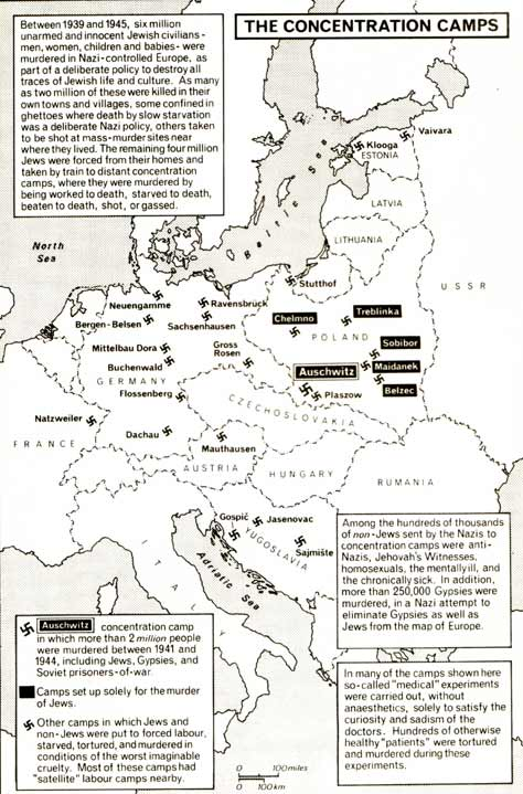 Map 8: The concentration camps